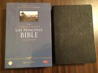 Nkjv Charles Stanley Life Principles Study Bible - $74.99 - Black Bonded Leather