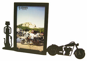 Motorcycle-amp-Gas-Pump-Picture-Frame-3-5-034-x5-034-3-034-x5-034-V