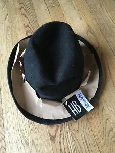 Hats In The Belfry Men Large Black Soft 100 Wool Fedora Wpl 4384