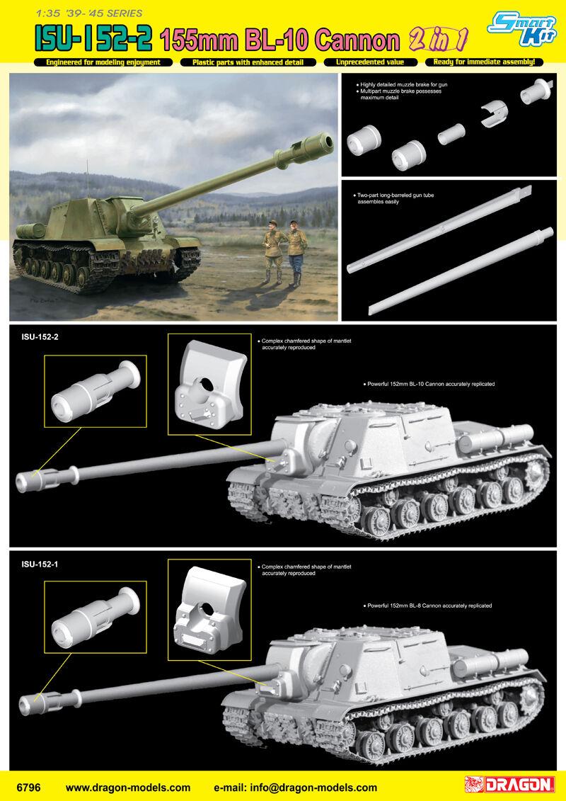 1drake 1  35 6796 ISU -I 52 -2 155mm BL -10 Cannon modelllllerlerl kit