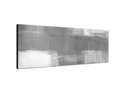 150x50cm Panoramabild Schwarz Weiss abstrakte Kunst grau weiß gemalt Struktur