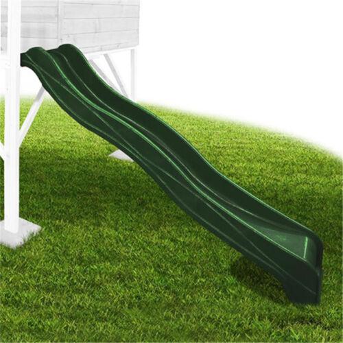 Outdoor Kids Playground Childrens Garden Plastic Wavy Slide 218cm Forest Green