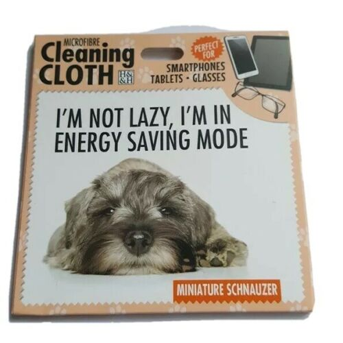 SCHNAUZER MICROFIBRE CLEANING CLOTH FOR YOUR PHONE TABLET GLASSES