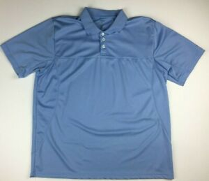 Details about Reebok Golf Men's Light Blue Polo XXL Big & Tall 100% Polyester