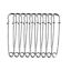 10Pcs Silver Safety Pins Heavy Duty Metal for Clothing DIY Crafts Dressmaking