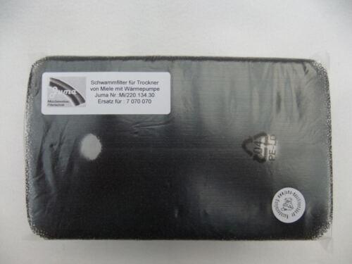 1 x Filtre éponge Filtre socle toile Filtre Pompes à chaleur sèche-linge Miele 0707007
