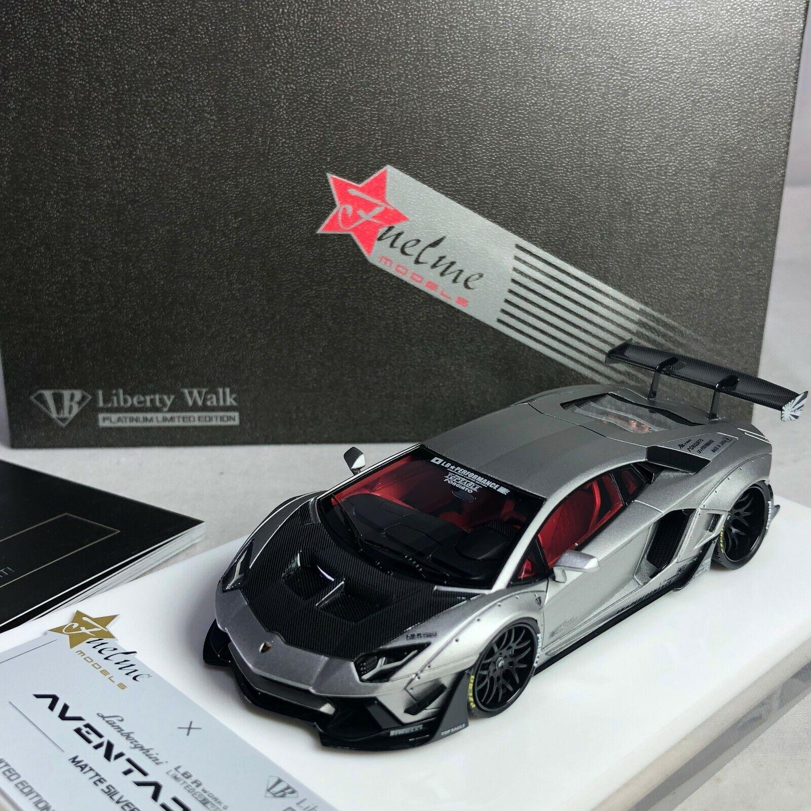 1 43 fuelme LB Works Lamborghini Aventador LP700 2.0 Argent Mat Ltd 120