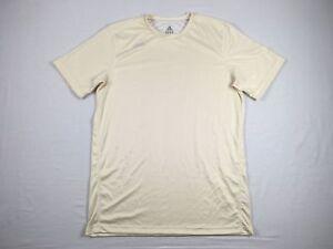 adidas-Cream-Poly-Short-Sleeve-Shirt-Multiple-Sizes-Used