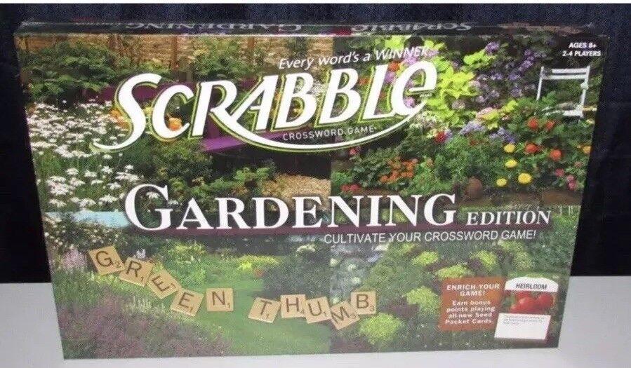 Scrabble Gardening Board Game Tiles Family Present Gift 2011 Rare US New Sealed