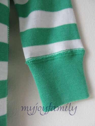 HANNA ANDERSSON Baby Organic Zip Sleeper Happy Green Stripe 85 2T 2 NWT