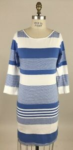 Pima Stripe Cotton Sz Dress Pulitzer L Coconut Marlowe Lilly Blue Bay a0wPcqX
