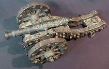 rare Maquette ancienne canon miniature 35cm bronze affût avant-train style XVIIe