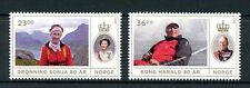 Norway 2017 MNH King Harald & Queen Sonja 80th Birthday 2v Set Royalty Stamps