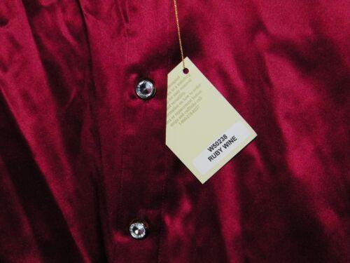 Women/'s Stubbs Western Wear Cowgirl Ruby Silk Shirt Rhinestone buttons Size XL