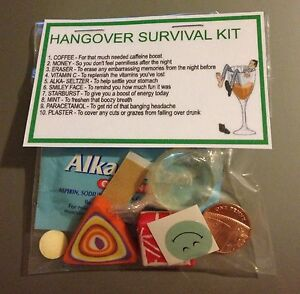 Hangover survival kit perfect hen night gift stag night gift or image is loading hangover survival kit perfect hen night gift stag solutioingenieria Choice Image
