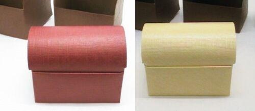 Kiste Geschenk Verpackung Schmuck Truhe Box bordeaux rot od creme weiß 10x7 cm