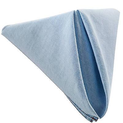 Denim cotton dinner napkins 17 inch sq. Western or Country Theme-1 Dozen