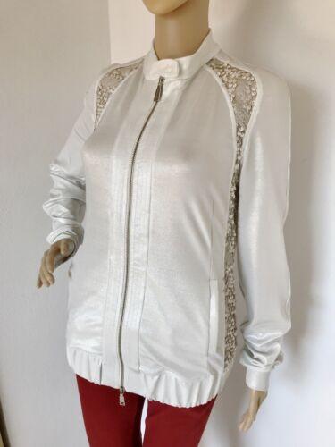 Gr Pailletten Jacke 38 De 'x' 44 It Cardigan Richmond Silber Blouson WXTqUYqFp