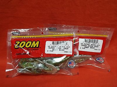 8cnt #089-367  Clark Hill Craw ZOOM Super Speed Craw 2 PCKS