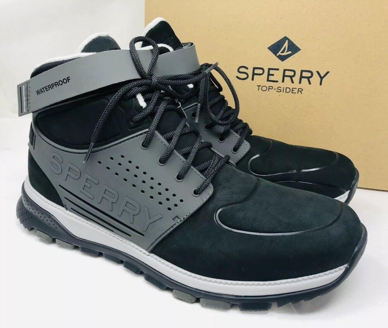 Sperry Top-Sider Para hombre Seamount botín Chukka Negro gris, elige un tamaño precio minorista sugerido por el fabricante