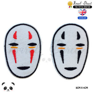Spirited-away-No-Face-Embroidered-Iron-On-Sew-On-Patch-Badge-For-Clothes-etc