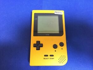 P6571-Nintendo-Gameboy-pocket-console-Yellow-GBP-Japan-Junk-For-parts-DHL