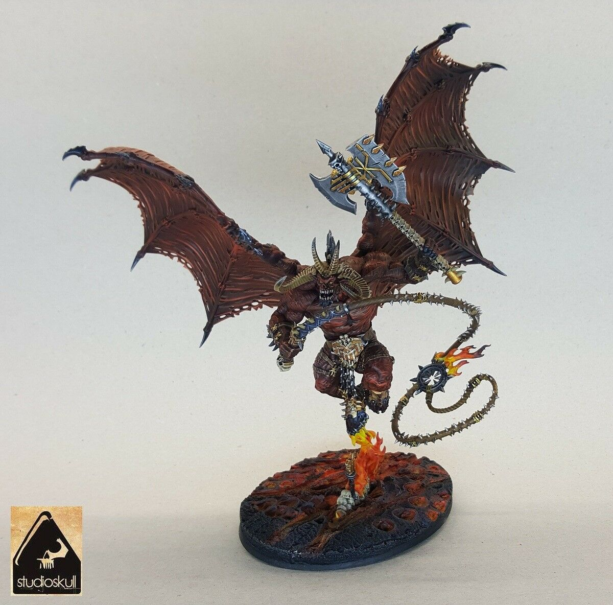 Bloodthirster Daemons Of Khorne PAINTED Age of Sigmar Warhammer 40K AOS