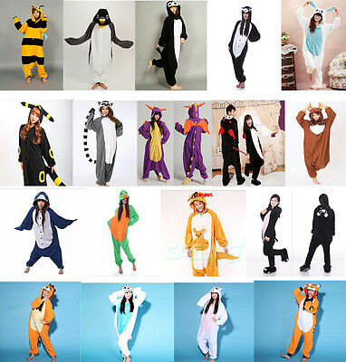 Unisex Adult Pajamas Kigurumi Animal Sleepwear Cosplay Costume S M L XL