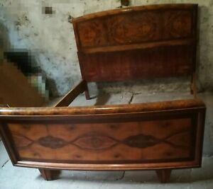 Letto Matrimoniale Antico.Letto Matrimoniale Antico 1930 Stile Art Deco Ebay