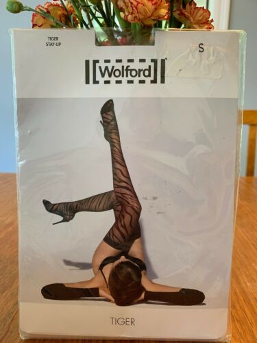 Wolford Tiger Stay Up Tights Sahara//black Size Small NWT~28043~8458~reg 58$