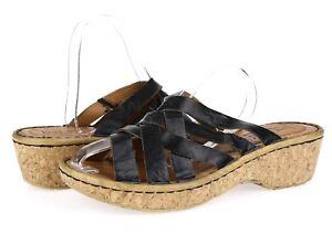36189cfa3d2b Women s JOSEF SEIBEL 228206 black strappy wedge sandals sz. 41