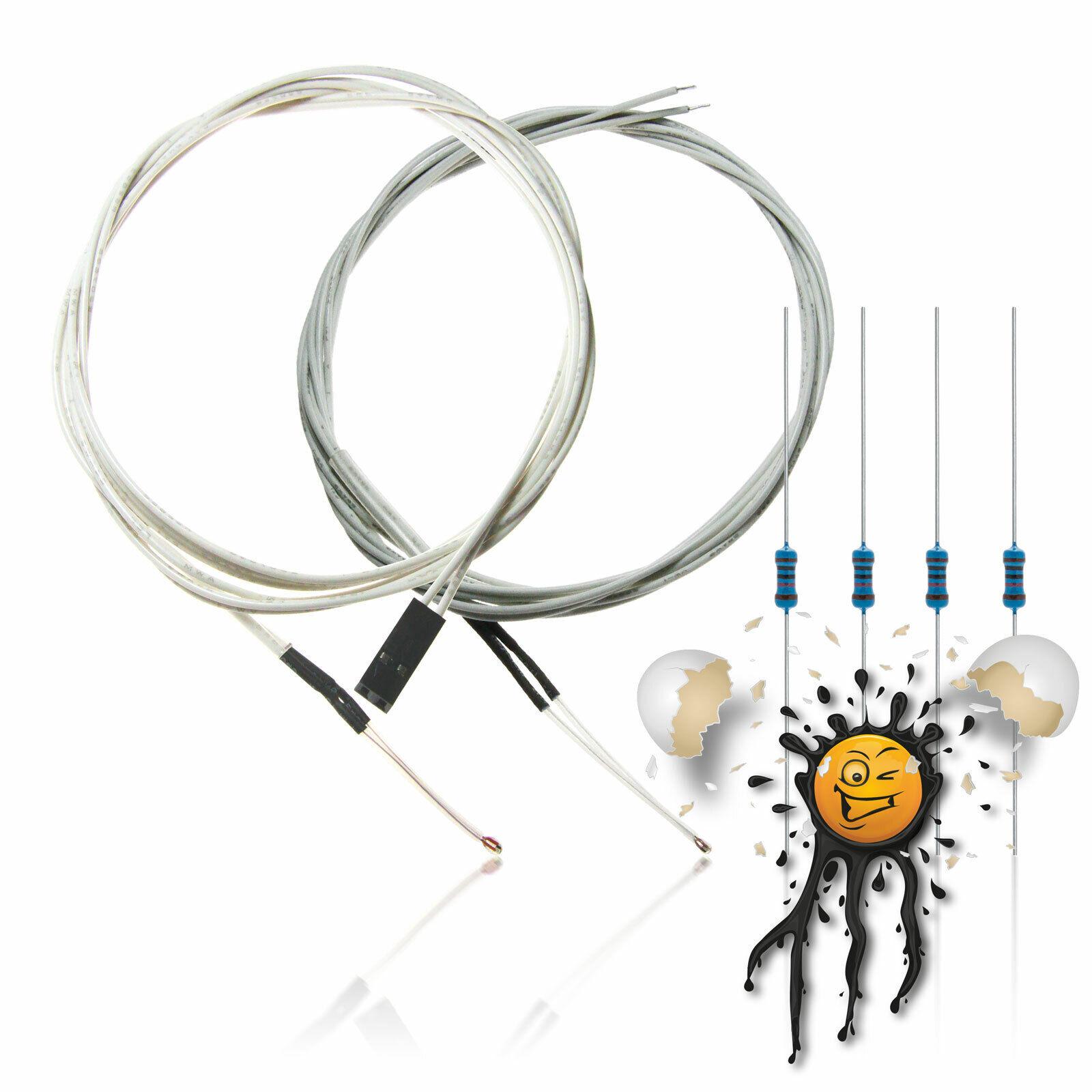 50°C bis 110°C  Thermosensor Temperatursensor NTC 1k Temperaturfühler NTC1K