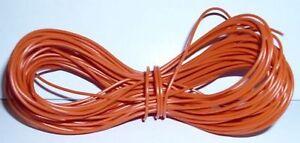 Model Railway Peco or Hornby Point Motor etc Wire 1x25m Roll 7/0.2mm 1.4A Orange