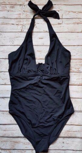 New Pour Moi Instaglam Halterneck Swimsuit In Black Holiday Swimwear Beach SE30