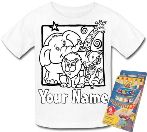 regalo divertente /& denominato troppo * Animale giungla del colore personalizzato nella propria T-SHIRT