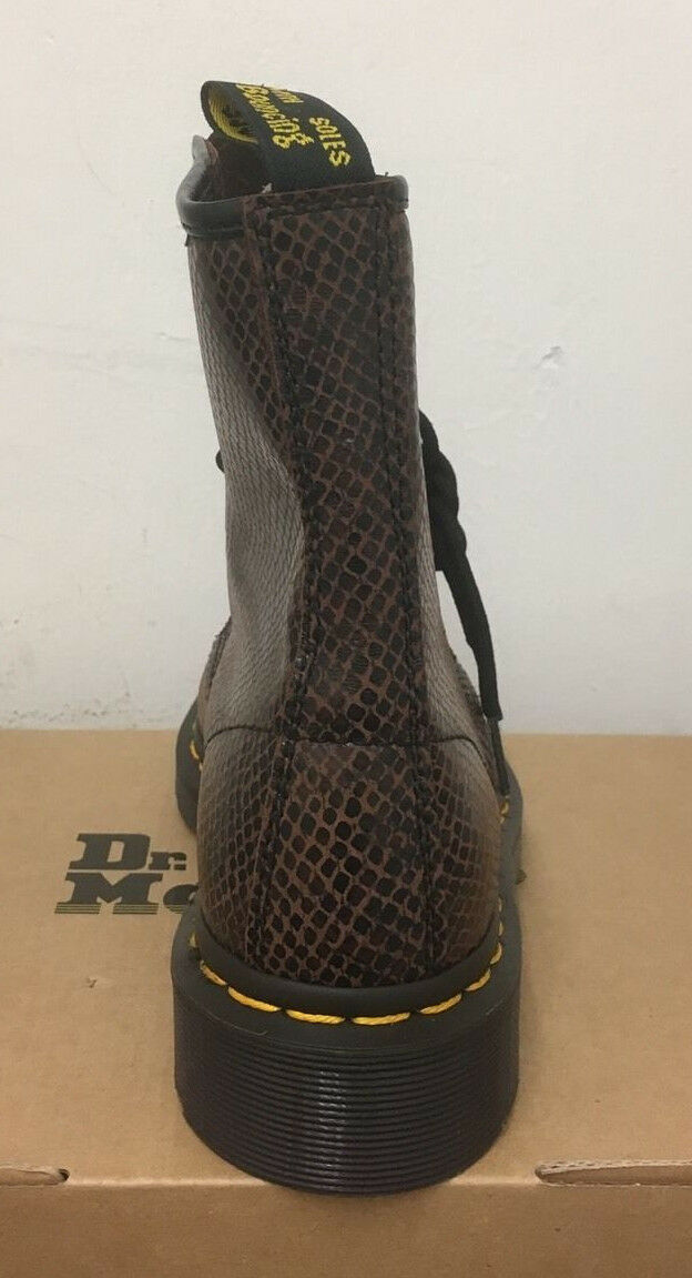 DR. MARTENS  1460  BROWN WAVE  MARTENS  LEATHER  Stiefel SIZE UK 3 70d5ed