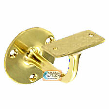 "PACK 4 63mm 2.1/2"" BRASS HANDRAIL Bracket Staircase Banister Disability Support"