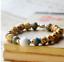 Ceramic-Bead-Silver-Leaf-Charm-Elastic-Bracelet thumbnail 4