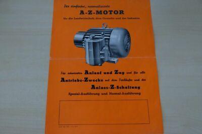 Eisele A-z Motor 198026 Prospekt 04/1952