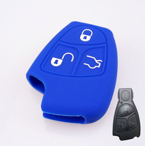 3 BUTTON SILICONE CAR KEY FOB COVER FIT  FOR MERCEDES BENZ REMOTE CASE HOLDER