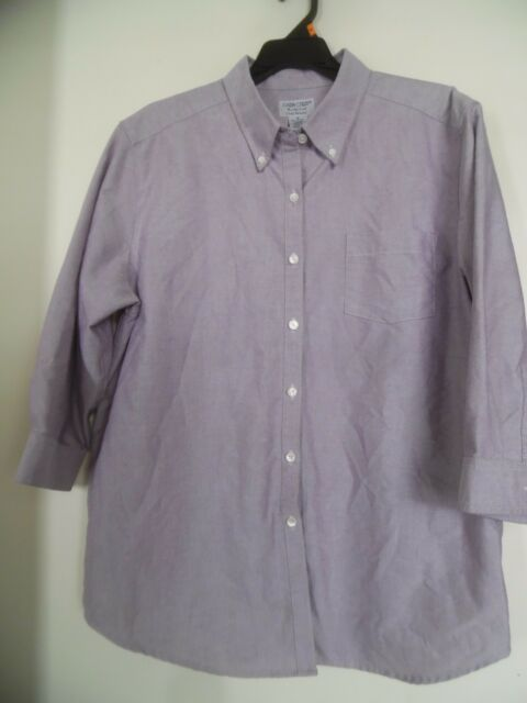 CABIN CREEK WRINKLE FREE STAIN REPELLENT TOP SHIRT BLOUSE SZ   14