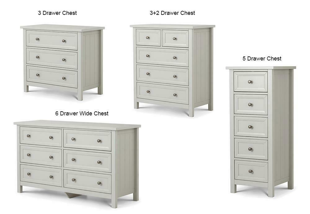 Lpd St Ives 6 Drawer Tall Chest Dove Grey For Sale Ebay