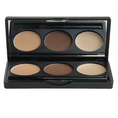 Eyebrow Powder Eye Brow Palette Cosmetic Makeup Shading Kit with Brush Mirror