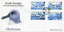 South Georgia & South Sandwich Islands 2015 FDC Albatrosses 4v Set Cover Birds
