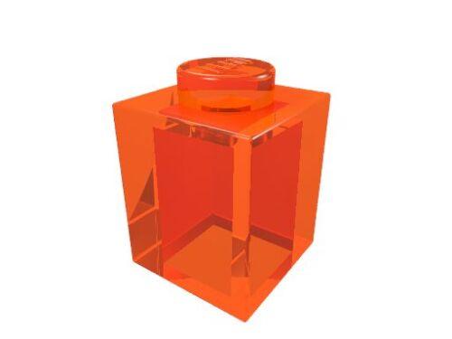 10 x transparent-orange neu 3005 LEGO Baustein 1 x 1