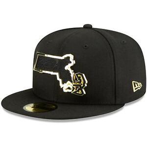 Boston-Celtics-New-Era-State-Metal-amp-Thread-59FIFTY-Fitted-Hat-Black