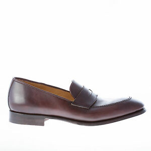 Leather Penny Made In Migliore Men Homme Dark Chaussures Italy Loafer Brown qSzVUMpG