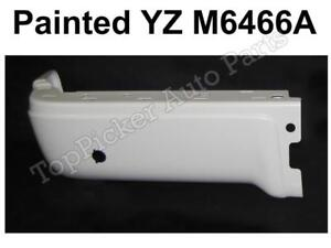 PAINTED WHITE REAR BUMPER END SET FOR 2009-2014 FORD F150 STYLESIDE WITH HOLE