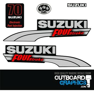 Suzuki DF70EFI four stroke outboard engine decals/sticker kit | eBay
