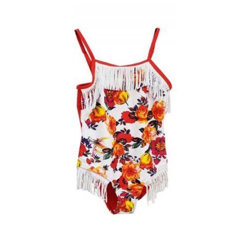 Kids Girls Floral Print Swimwear Swimming Costume Swimsuit Bikini Age 4-14 Year